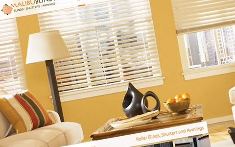 Malibu Blinds's Website