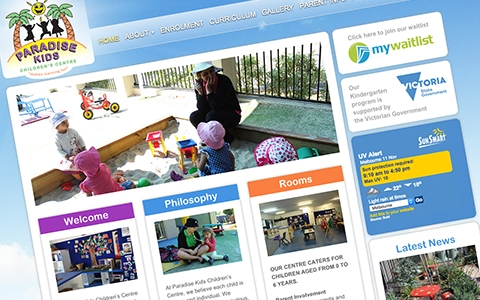 Paradise Kids's Website